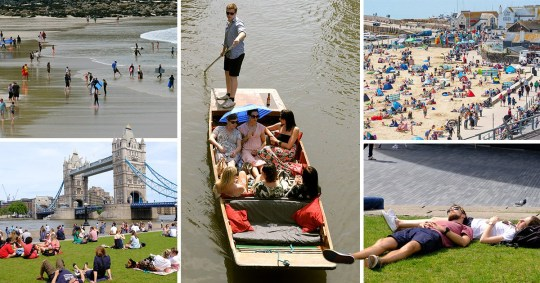 Compilation of pictures from the hottest day of the year so far