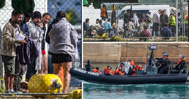 Migrants from 13 boats have been picked up today off the UK coastline