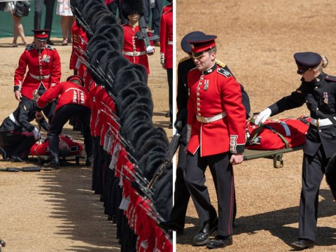 Two guardsmen faint amid sweltering heat during Trooping the Colour rehearsals