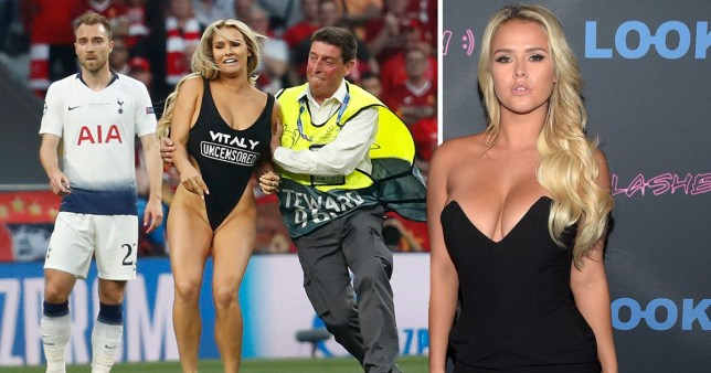 Champions League Pitch Invader Was Promoting Porn Website -3945