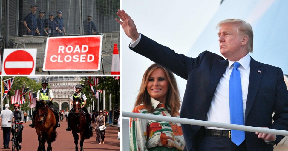 Scotland Yard is expecting large protests against Donald Trump as he begins his state visit today