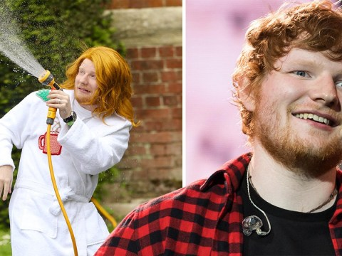 Ed Sheeran gives woman next door vibes as he rocks wig and dressing gown for new music video