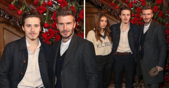 David Beckham, Brooklyn Beckham, Hana Cross