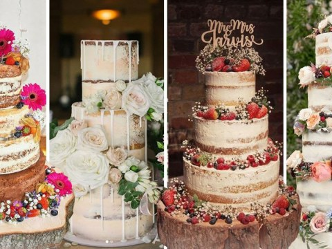 11 naked wedding cakes to fall in love with