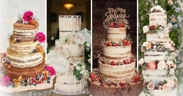 11 Naked Wedding Cakes To Fall In Love With Metro News
