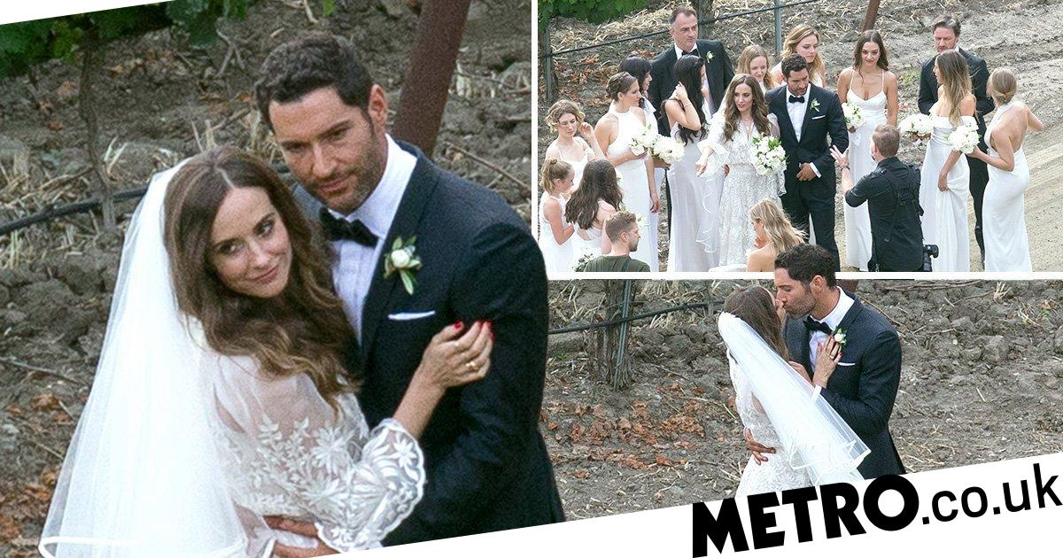 Lucifer Tom Ellis wedding pictures as he marries Meaghan ...