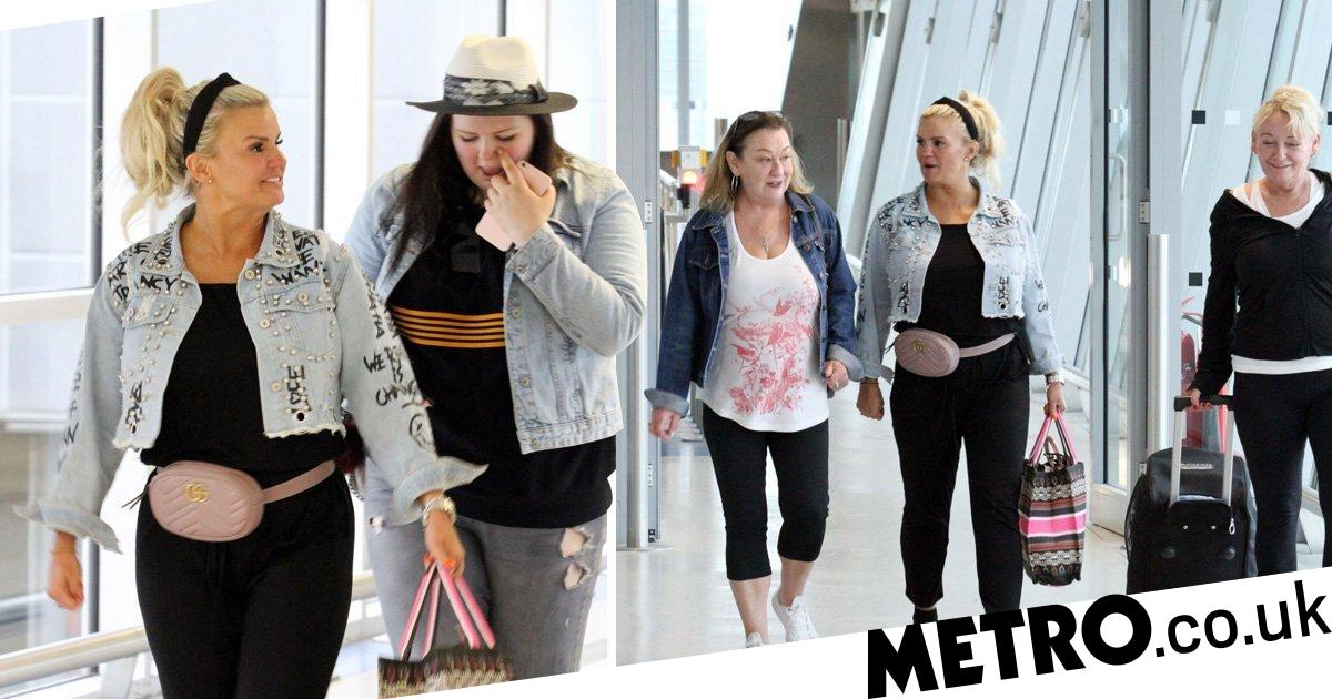 Kerry Katona And Daughter Molly Jet To Greece For Fitness