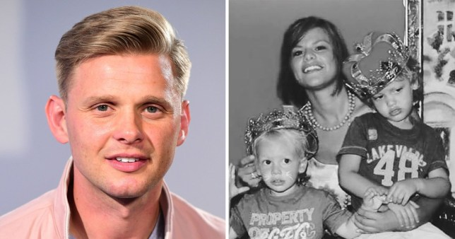 Jeff Brazier and ex Jade Goody with their sons Bobby and Freddie
