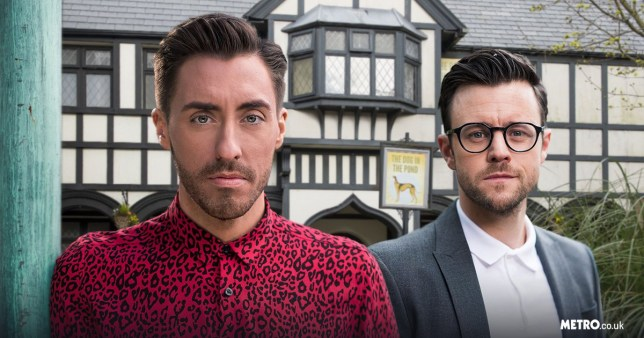 Hollyoaks' Scott Drinkwell and Levi