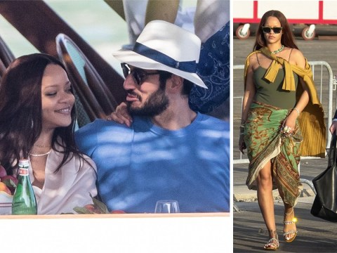 Rihanna looks smitten as she cosies up to billionare boyfriend Hassan Jameel on romantic holiday