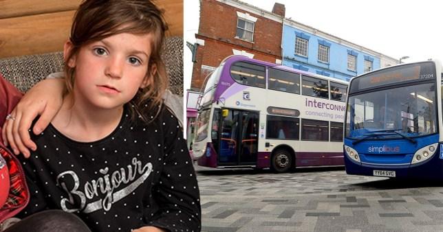 Girl, 6, injected with needle hidden between two bus seats