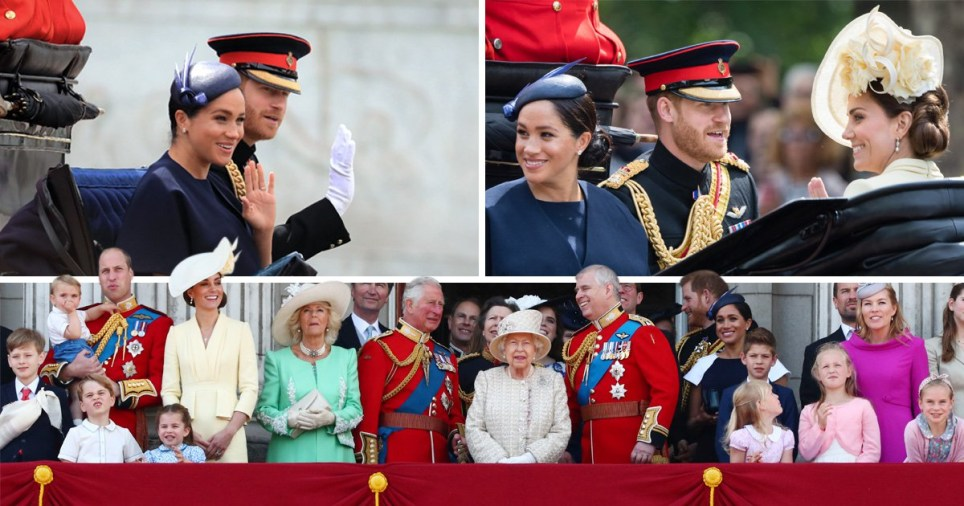 Meghan is among the royals at the Trooping the Colour celebrations (Picture: PA/Getty Images/Reuters)