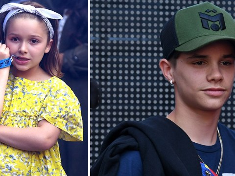 Harper Beckham giving her older brother Romeo the side-eye at Capital FM's Summertime Ball is everything