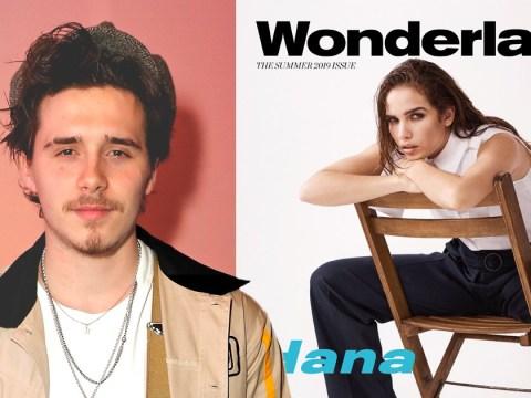 Brooklyn Beckham shoots girlfriend Hana Cross in mum Victoria's clothes for Wonderland magazine cover