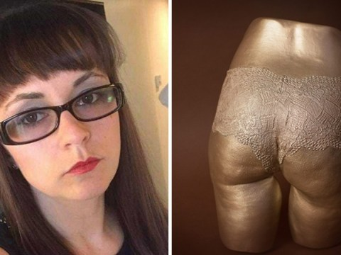 Mum makes a bust of her bum to promote body positivity for her daughters