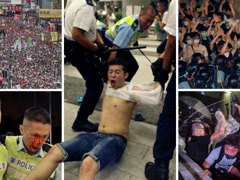 Huge protests in Hong Kong against extradition law changes