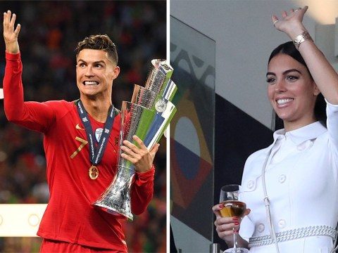 Cristiano Ronaldo's girlfriend Georgina Rodriguez cheers him on from stands after rape case is dropped