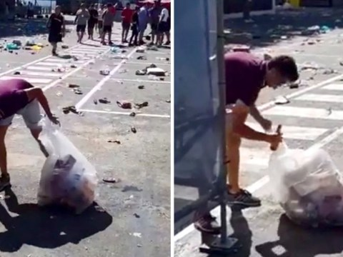 England fan cleaning up mess in Portugal shows not all Brits are terrible tourists