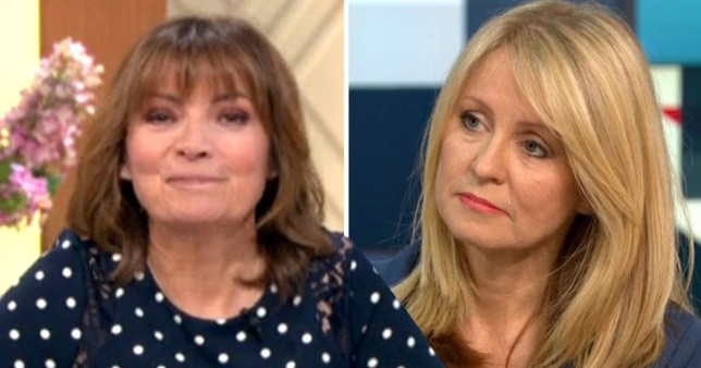 Esther McVey and Lorraine Kelly on Good Morning Britain