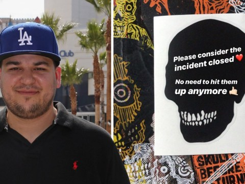 Rob Kardashian pulls new fashion line designs after fans accuse him of copying street artist