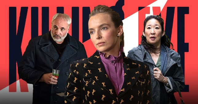 The cast of Killing Eve including Jodie Comer and Sandra Oh