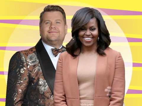 Michelle Obama takes on Harry Styles in dodgeball as she joins James Corden for The Late Late Show UK