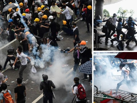 Tear gas fired on Hong Kong protesters fighting China extradition laws