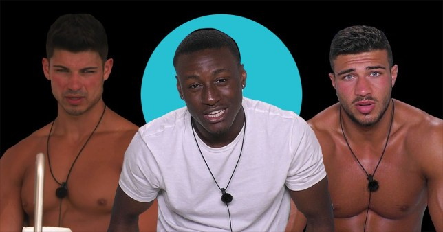 Love Island contestants Sherif Lanre and Anton Danyluk