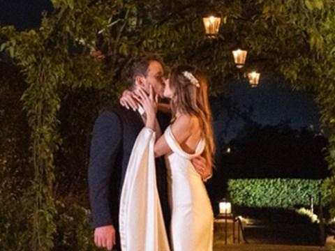 Chris Pratt kisses Katherine Schwarzenegger under the starry sky in stunning wedding shots