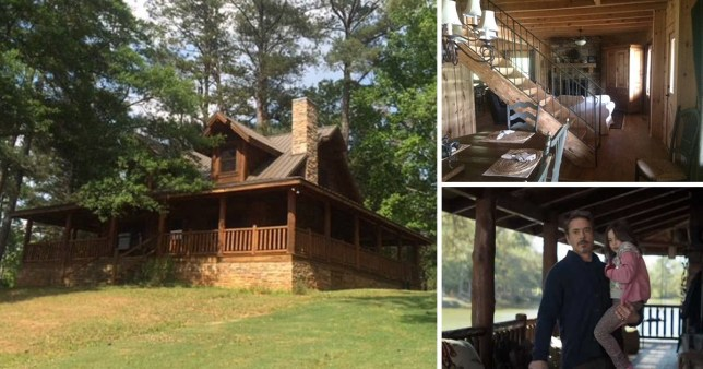 Compilation of images featuring a cabin used in Avengers: Endgame, which is now up for rent on Airbnb