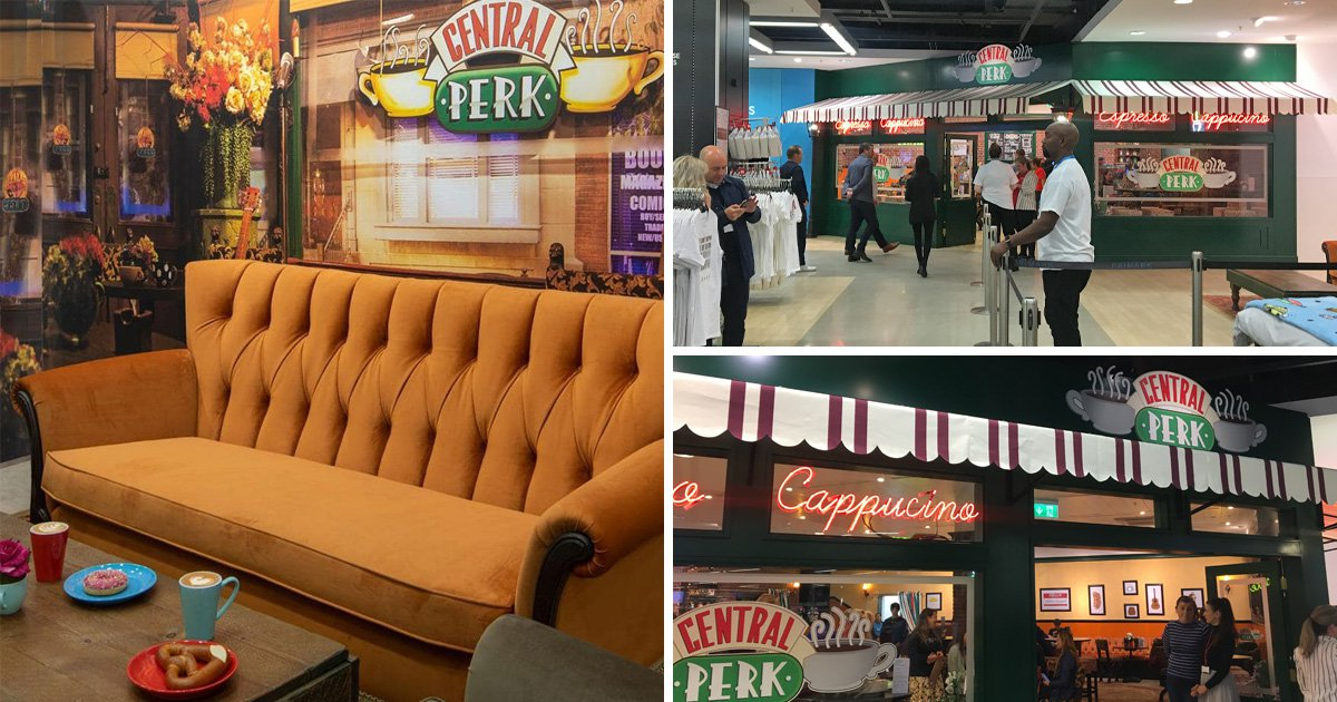 Inside a Friends-themed café during Primark in Manchester - all a food, splash and sell on sale