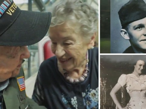 Ex American soldier reunited with first love he met during WW2 after 75 years
