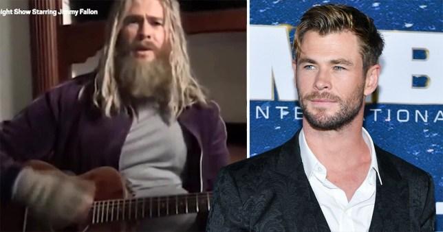Chris Hemsworth as 'fat Thor'