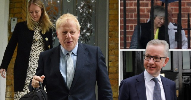 Tory MPs including Michael Gove and Boris Jonson are heading to Parliament to vote on who will succeed Theresa May