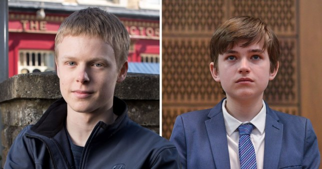 Comp of Clay Milner Russell and Eliot Carrington as Bobby Beale in EastEnders