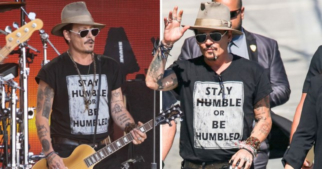 Johnny Depp arrived in Hollywood to perform with Hollywood Vampires