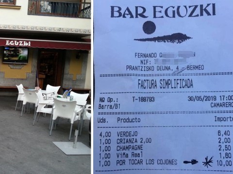 Spanish bar goes viral after waitress adds service charge for 'being annoying'