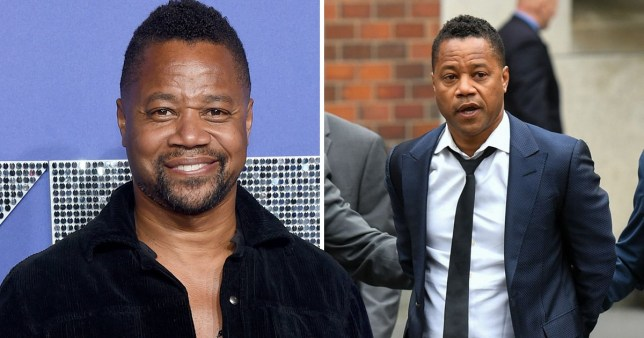 Cuba Gooding Jr being led by police into a New York City court after being charged with sexual abuse