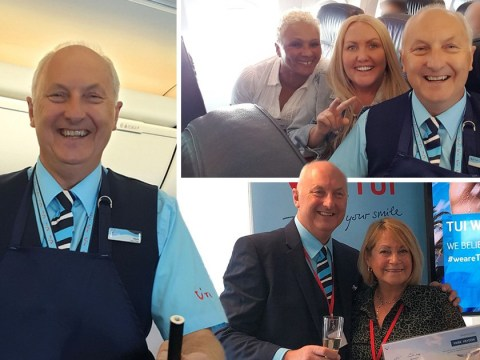 Grandfather becomes flight attendant at the age of 62