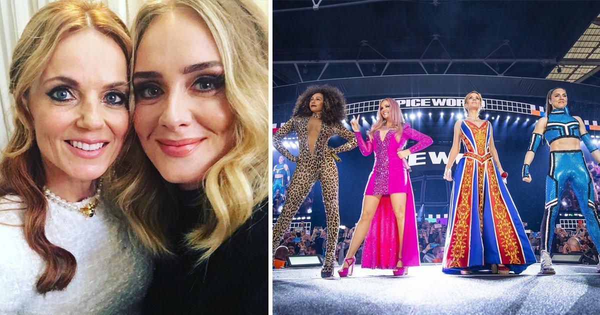 Adele and Geri Horner brazen of Spice Girls show