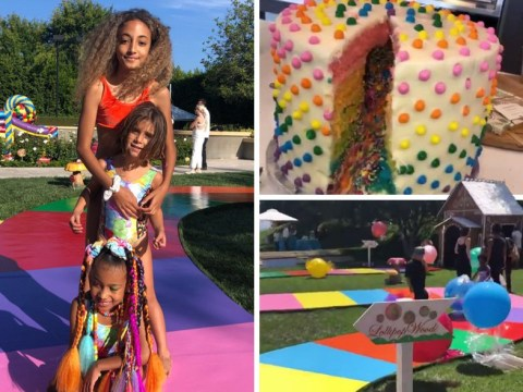 Inside North West's extravagant party as Kim Kardashian throws one hell of a birthday soiree