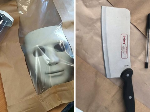 Man with meat cleaver arrested after running around street in Friday 13th mask