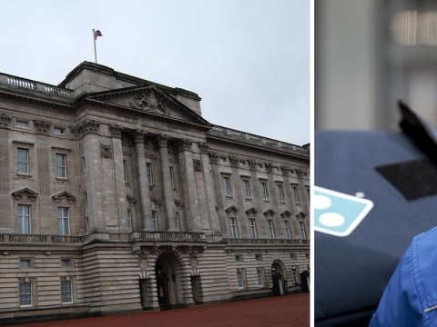 Domino's delivery driver tries to deliver pizza to the Queen after prank call