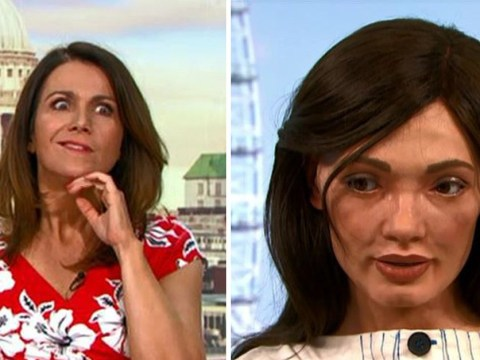 Susanna Reid freaks out over talking robot that looks like her and praises Piers Morgan