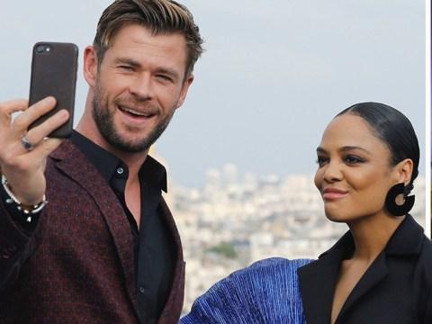 Avengers' Chris Hemsworth goes full travel vlogger on Men In Black press tour with Tessa Thompson