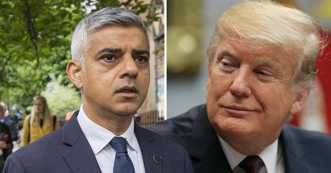 Sadiq Khan said Donald Trump is a 'poster boy for racists'