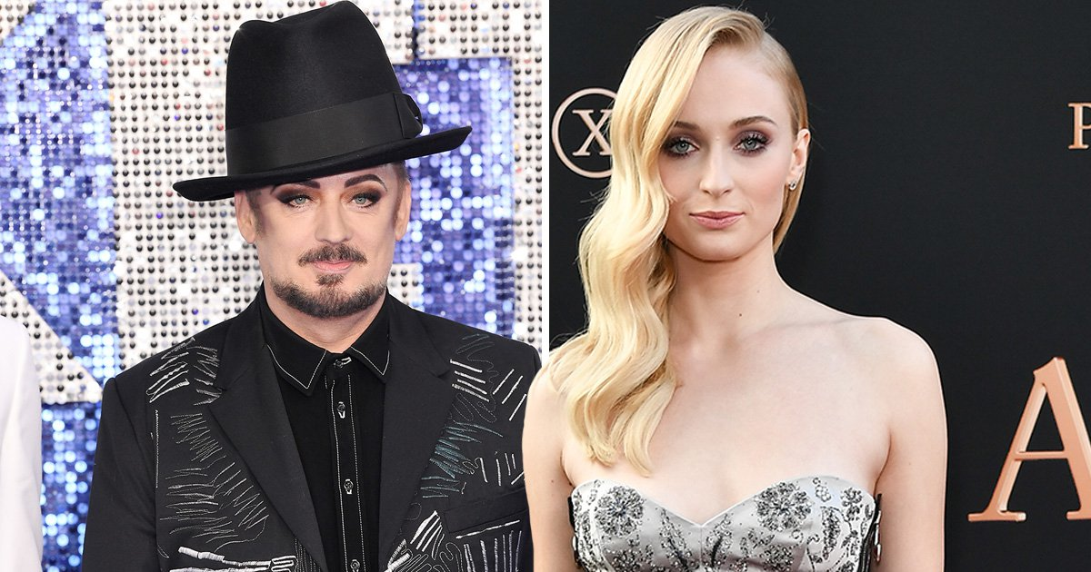 Boy George and Game of Thrones thespian Sophie Turner