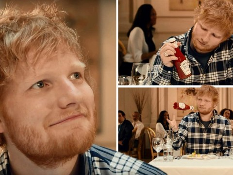Ed Sheeran makes his debut in Heinz Ketchup advert and it's not as cringe as you'd expect