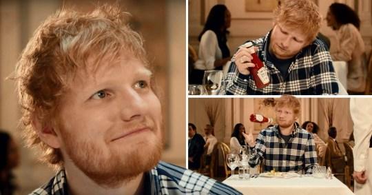 Ed Sheeran in Heinz Ketchup advert