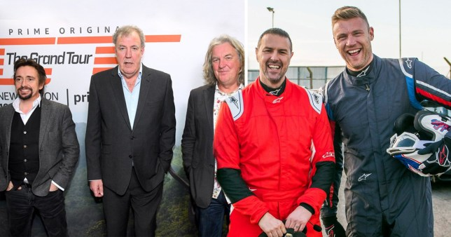 Top Gear's Paddy and Freddie alongside Jeremy, James and Richard